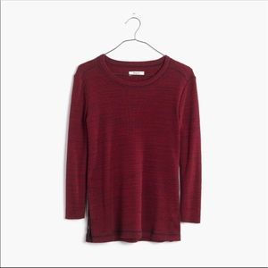 Madewell 3/4 sleeve Red Thermal